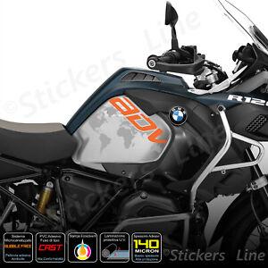 2-Adesivi-Serbatoio-BMW-R-1200-1250-gs-Adventure-LC-GS-GLOBO-orange-gray
