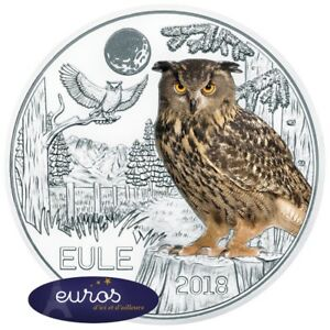 Piece-3-euros-commemorative-AUTRICHE-2018-Le-Hibou-Piece-phosphorescente
