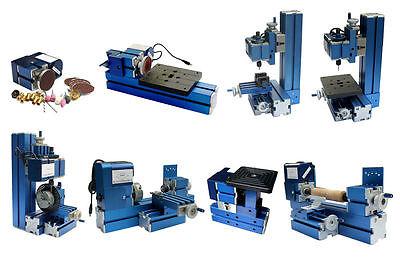 8 in 3 Metal Mini Multipurpose Machine DIY Power Tool Lathe Drilling Milling Kit