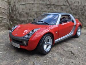 1/18 Smart Car Coupé. Bburago. red, loose.