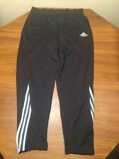 Adidas Mens L Sweat Pants Soccer Track Polyester Unlined Zip Tapered Legs Tricot