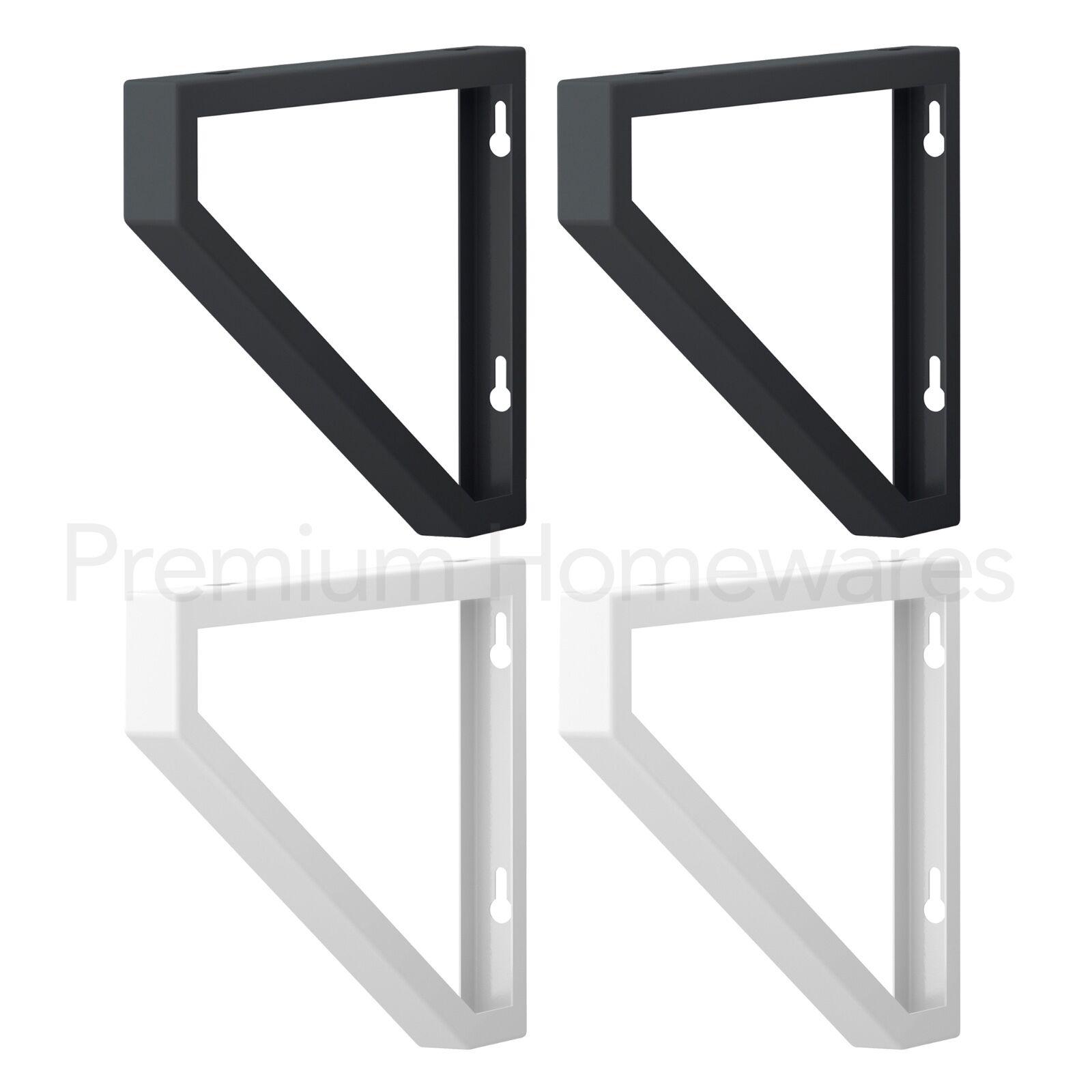 2 x ikea ekby lerberg metal wall brackets for 19cm 28cm for Ikea metal wall shelf
