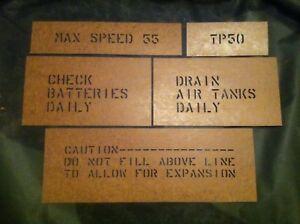 m35a2-Oilboard-Stencil-Set-Deuce-and-a-half-m35-military-truck-m109a3-Army-6x6