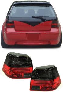Klarglas-Celis-Rueckleuchten-rot-schwarz-fuer-VW-Golf-4-97-03