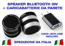 CASSA BLUETOOTH SPEAKER 3W RADIO FM MP3 MICROSD PER SMARTPHONE + CARICABATTERIE