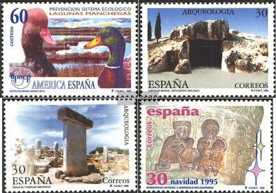 Postfrisch 1995 Sondermarken Sonnig Spanien 3246,3247-3248,3253 kompl.ausg.