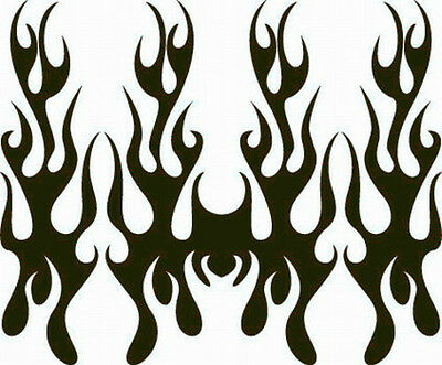 NEW DECAL HOOD FLAME #10 RACE VEHICLE VINYL GRAPHIC SUV CAR FLAMES AUTO TRUCK