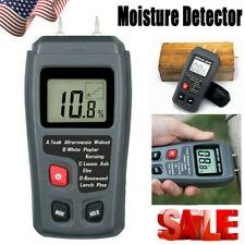 Digital Lcd Wood Moisture Meter 0 999 Wood Humidity Detector Firewood Tester