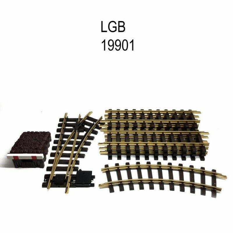 Coffret de rails avec butoir et aiguillage train de jardin G122.5LGB 19901