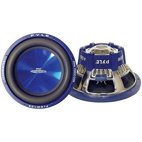 Car Subwoofer Blue Wave 8-Inch 600-Watt High Powered Vehicle Speaker Dual Voice
