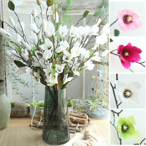 Fake Magnolia Single Stem Long Simulation Magnolia Flower Home Decor