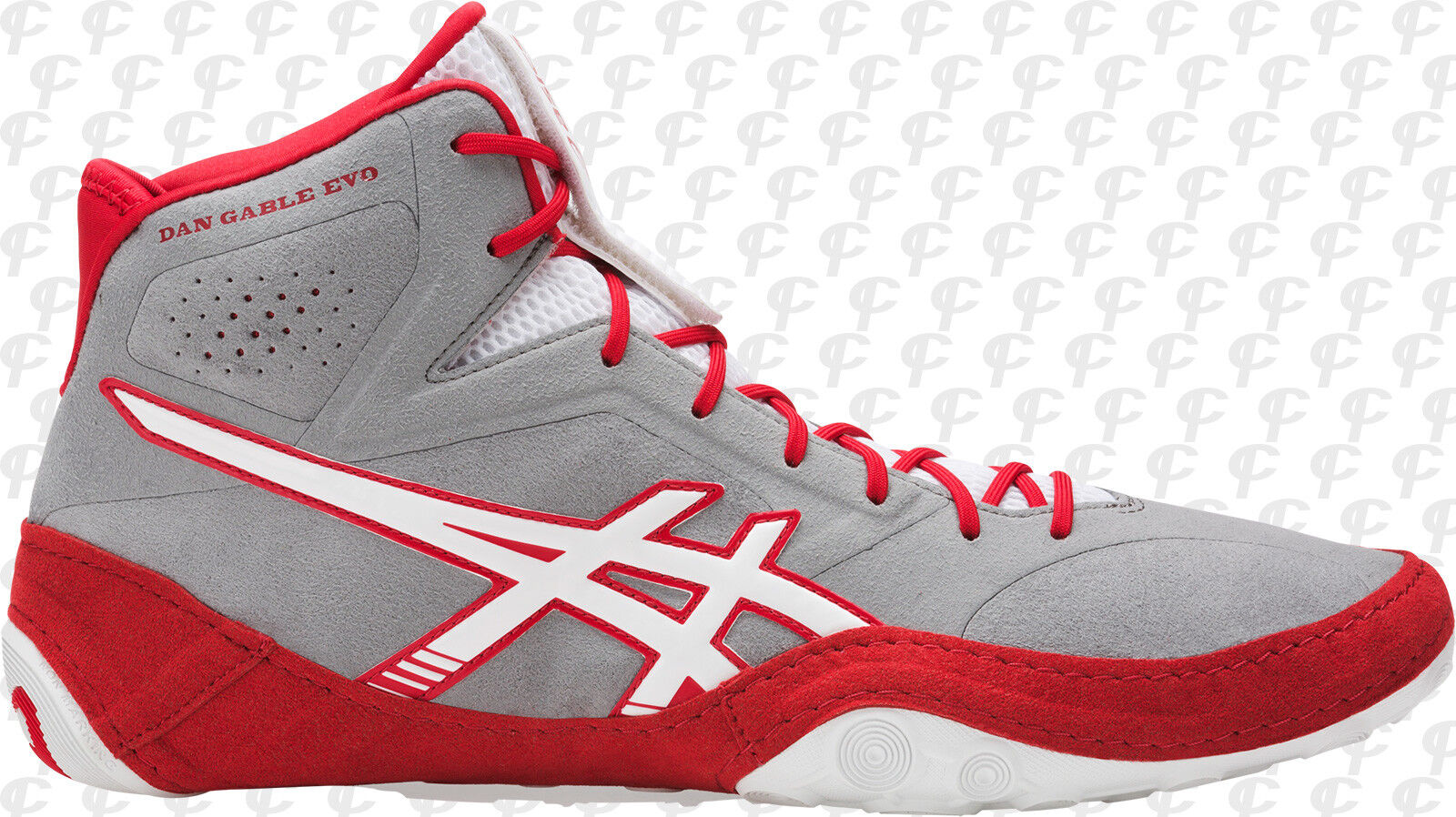 Nuevos Zapatos Asics Dan Gable EVO Lucha Libre Adulto Tallas US gris blancoo Rojo J700Y-9601