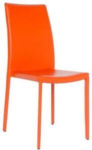 Silla-en-acero-y-cuero-naranja-RS8741