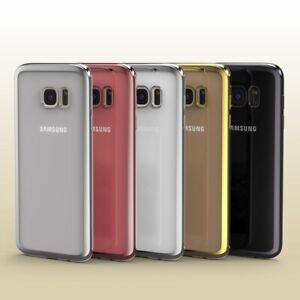 Samsung-Galaxy-s7-Edge-Coque-spiegelrand-Clair-Slim-Cover-Sac-Back-Case-etui