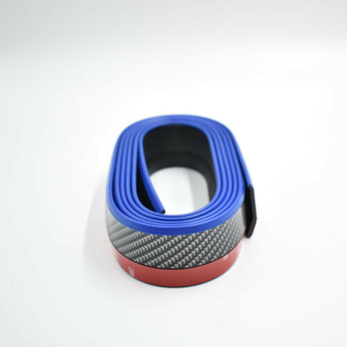 2.5M Carbon Fiber Black /& Blue Front Bumper Lip Splitter Spoiler Chin Protector