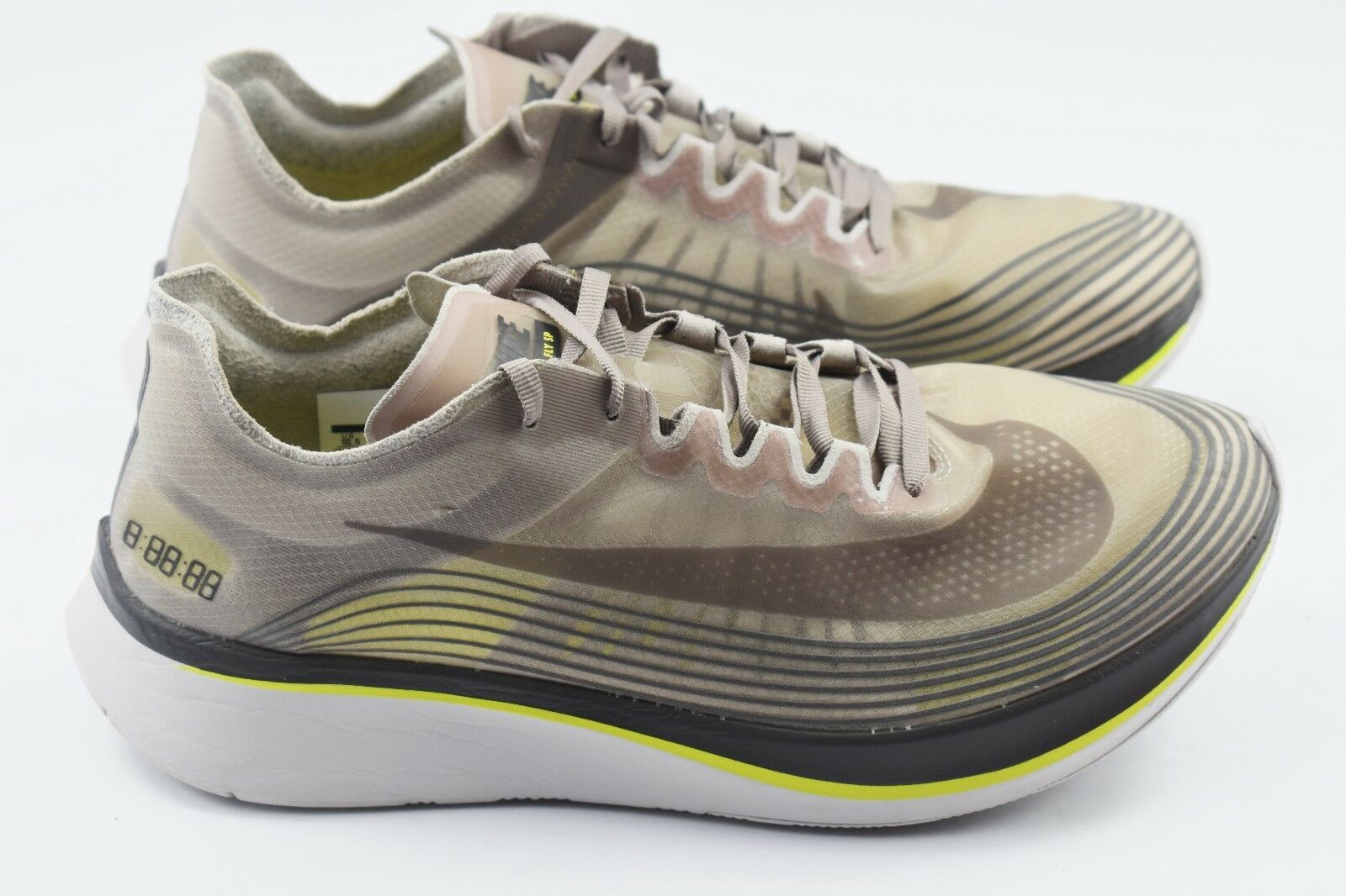 Nikelab Zoom Fly SP Mens Size 8.5 Running Shoes Sepia Stone  Yellow AA3172 201