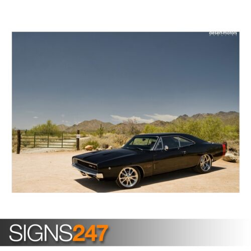 Dodge Charger Muscle Car Poster Art Print A0 A1 A2 A3 A4 Sizes