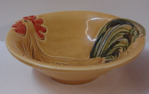Vietri PRONTO Cereal Bowl EMBOSSED ROOSTER CHICKEN More Items Available