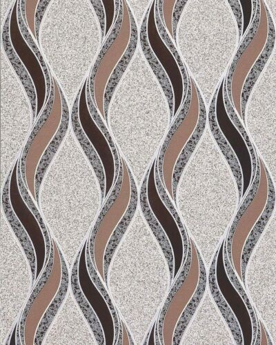 EDEM 1025-13 wallpaper curved lines ornaments beige brown silver 5.33 sqm