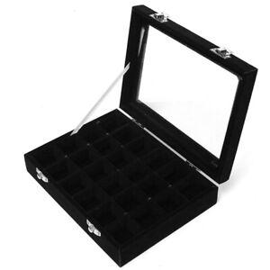 24-grille-Presentoir-Boite-a-Bijoux-Rangement-Verre-pour-Montre-Bracelet-Bo-O1Z2