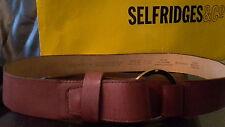 Liz Claiborne Original Cinturón Cuero Marrón Hebilla Anillo.. tamaño (L) Grande. comprar nuevo.