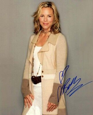 Enthusiastic Maria Bello Signed Autographed 11x14 Photo Finely Processed Television