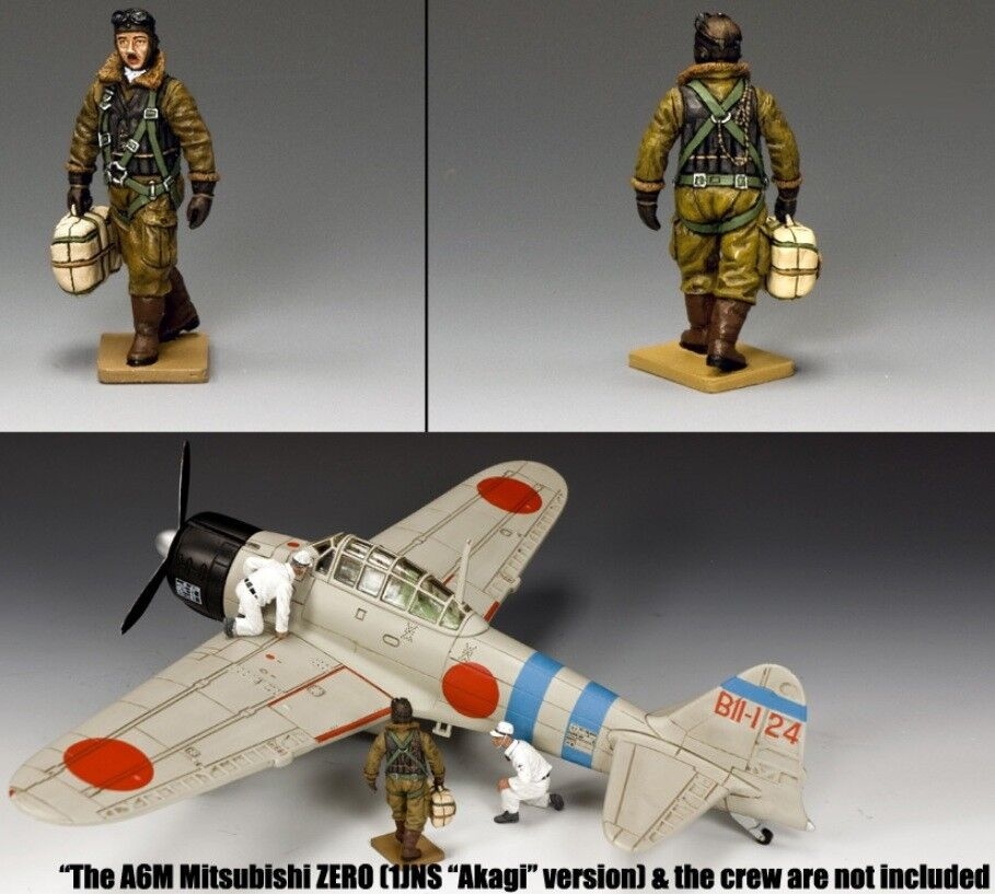 KING & COUNTRY WW2 JAPANESE NAVY JN005 IMPERIAL NAVY PILOT WITH PARACHUTE MIB