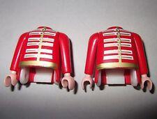 12551 Cuerpo y brazos casaca roja 2u playmobil,body,arms,red jacket