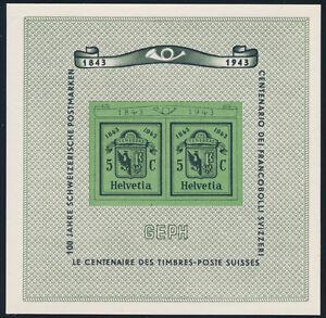 SCHWEIZ-1943-Block-10-tadellos-postfrisch-Mi-75