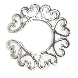 Sexy-Charm-Surgical-Steel-Non-Piercing-Clip-On-Heart-Design-Nipple-Ring-CRIT