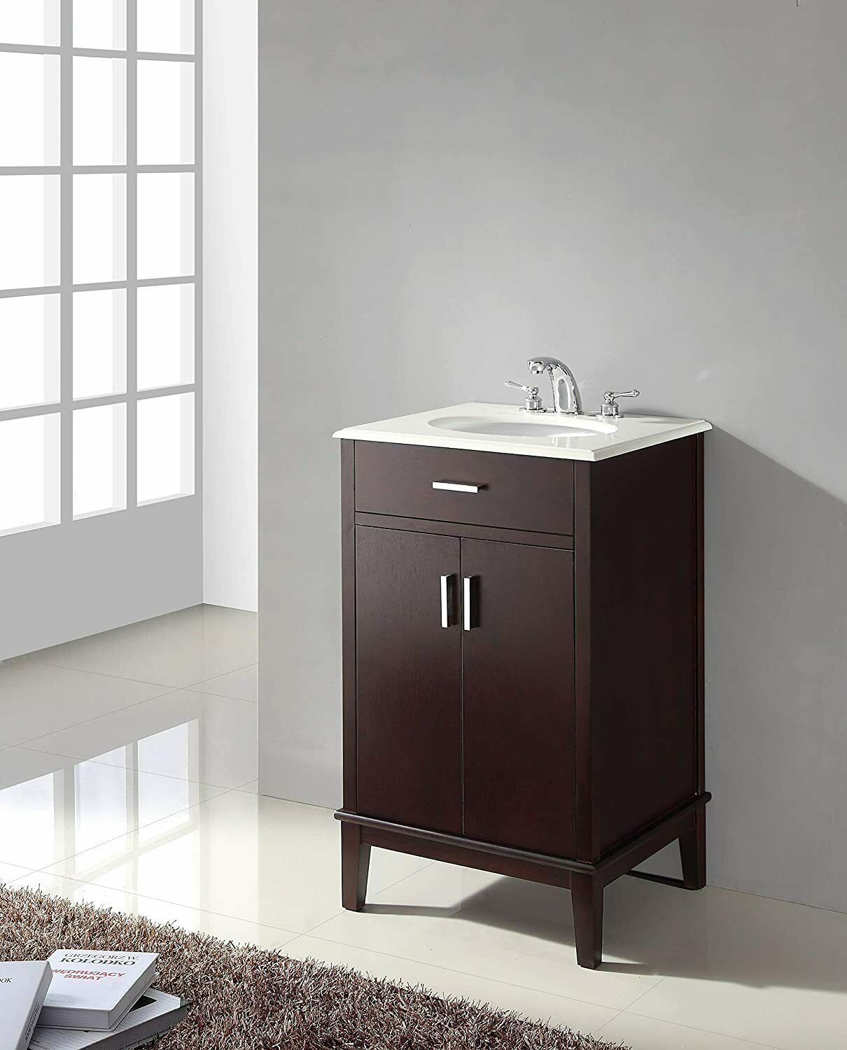 Wyndenhall Newton 20 Inch Traditional Bath Vanity With Pure White 21 Inch Wide T For Sale Online Ebay