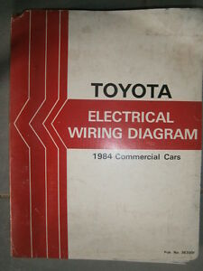 details about toyota 1984 buv liteace f hiace hilux stout land cruiser dyna  : wiring diagram