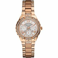 New Designer GUESS White Dial Women's Watch - W0111L3