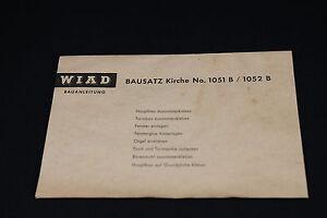 W397-WIAD-Train-Maquette-Ho-1051B-1052B-NOTICE-Eglise-diorama-Bauanleitung