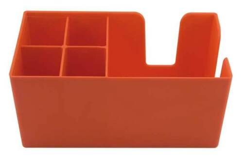 Bar Caddy classique serviette titulaire plastique bar condiment Caddy orange pour pailles
