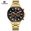 Automatik-Multifunktion-Herren-Uhr-Blau-Silber-Farben-Edelstahl-Armband-Uhren Indexbild 7