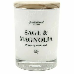 Scentsational-Natural-Soy-Blend-11oz-1-Wick-Medium-Candle-Sage-amp-Magnolia