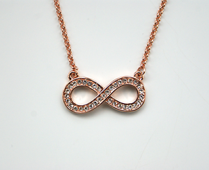 Rose Gold Infinity Pendant Love Rhinestone Charm Necklace Gift Women - Ilford, Essex, United Kingdom - Rose Gold Infinity Pendant Love Rhinestone Charm Necklace Gift Women - Ilford, Essex, United Kingdom