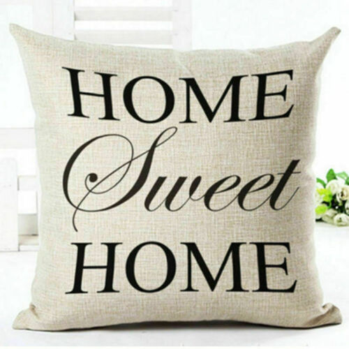 18/'/' Cushion Cover Romantic Word Quotes Throw Pillow Case Home Sofa Decor Letter
