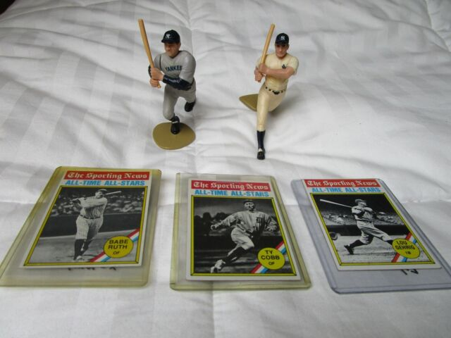 Babe Ruth Ty Cobb Lou Gehrig Cards & Figures SPORTING NEWS