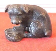 CHIEN PLOMB DE NUREMBERG ANCIEN BRONZE DE VIENNE DOG