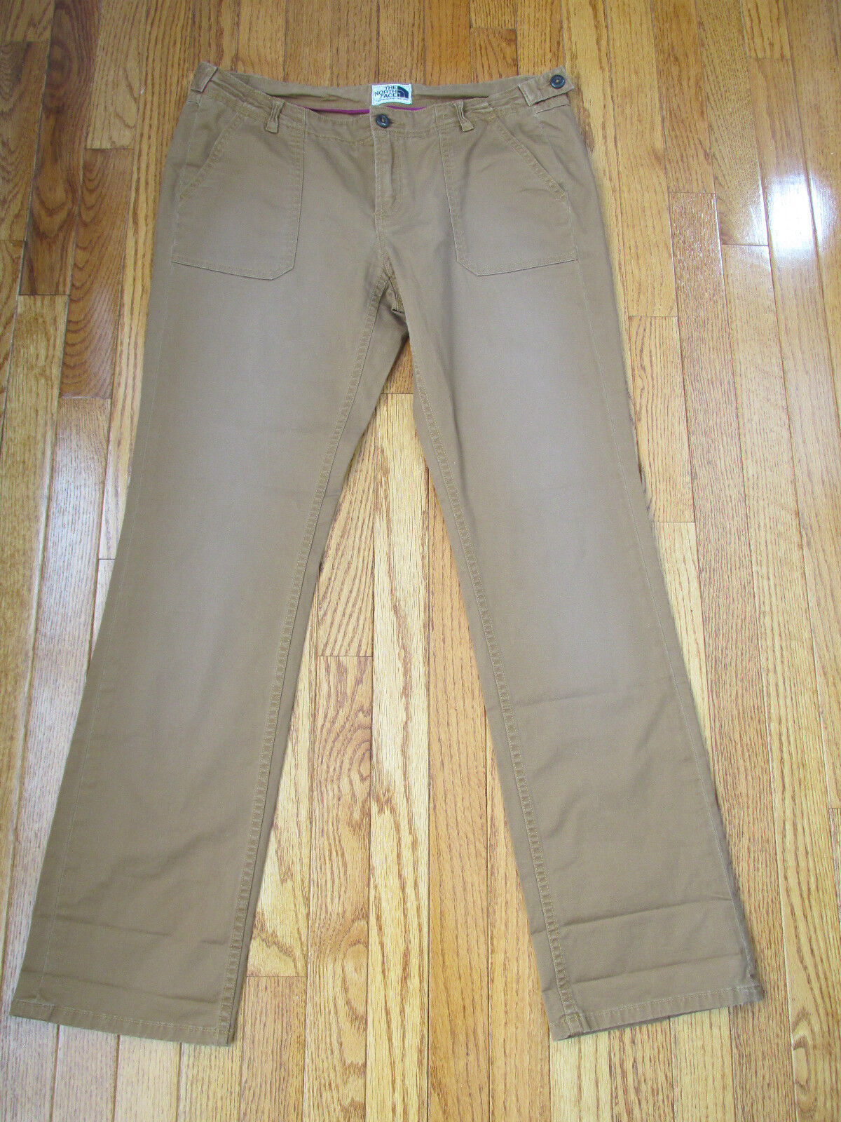 New The North Face Size 12 Bronx Brown Aniak Roll Up Twill Cotton Pants