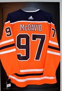 Connor McDavid Edmonton Oilers Adidas Home NHL Hockey Jersey Size 52
