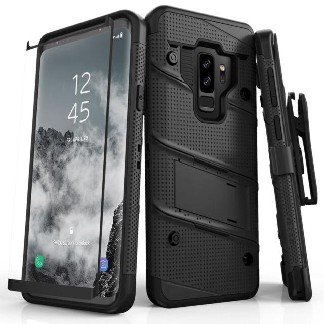 timeless design 08a47 85146 Zizo Bolt Series for Samsung Galaxy S9 Plus Tough Case & Belt Clip - Black