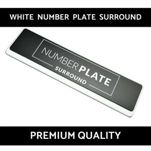 1 x Prestige Chrome Acier Inoxydable Number Plate Surround Support pour Mercedes!