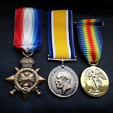WW1 Medals Trio 1914 - 15 Star , British War & Victory Medal New British Repro