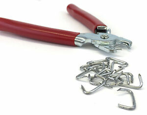 Straight Hog Ring Pliers Spring Loaded Upholstery Car Trim Fence