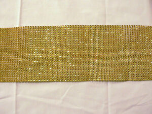 Image Is Loading GOLD RHINESTONE LOOK MESH TABLE RUNNER 72 034