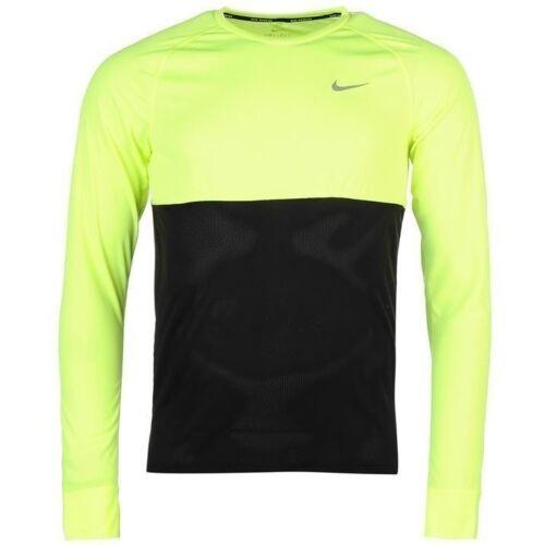 Mens Genuine Nike Lightweight Breathable Mesh Racer Long Sleeve Running Top