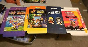 Gamestop Promo display Box posters Lot Of 4 , Spiro,Crash,Rage2, Street Fighter,